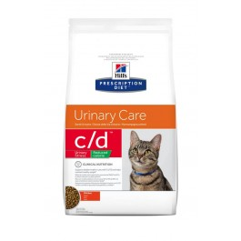 Hill's Prescription Diet Feline C/D (Multicare) Urinary Stress Light au poulet 1.5 kg - La Compagnie Des Animaux