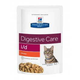 Hill's Prescription Diet Feline I/D Poulet SACHETS 12 X 85 grs - La Compagnie Des Animaux
