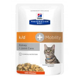 Hill's Prescription Diet Feline K/D + Mobility 12 x 85 g - La Compagnie Des Animaux