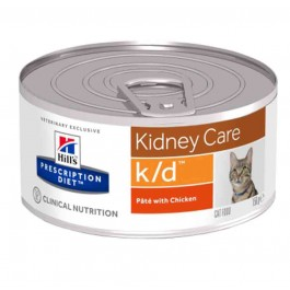 Hill's Prescription Diet Feline K/D Poulet BOITES 24 X 156 grs - La Compagnie Des Animaux