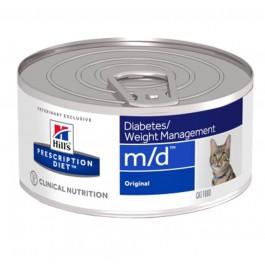 Hill's Prescription Diet Feline M/D Foie BOITES 24 x 156 grs - La Compagnie Des Animaux
