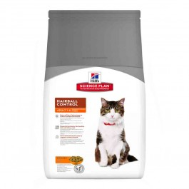 Hill's Science Plan Feline Adult Hairball Control Poulet 1,5 kg - La Compagnie Des Animaux