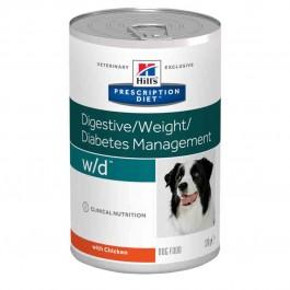 Hill's Prescription Diet Canine W/D au poulet 12 x 370 grs - La Compagnie Des Animaux