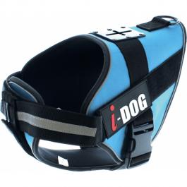 I-DOG Harnais neo-CAM Bleu/Gris XL - La Compagnie Des Animaux