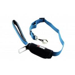 I-DOG Laisse Security Car Bleu/Gris 100 cm  - La Compagnie Des Animaux