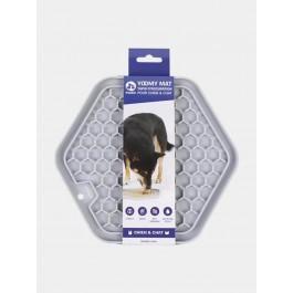 Inooko Tapis d'occupation pour chien et chat gris 23 x 20 cm - La Compagnie des Animaux