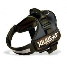 Harnais Power Julius-K9 Noir L 65 à 85 cm - La Compagnie Des Animaux
