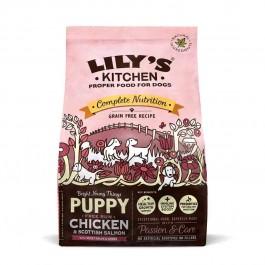 Lily's Kitchen Puppy Croquettes au Poulet et saumon d'Ecosse 1 kg - La Compagnie Des Animaux