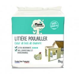 Plume & Compagnie Litière poulailler extra absorbante Bois de chanvre 8 kg - La Compagnie Des Animaux