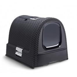 Maison de Toilette Curver Petlife Litter Box Anthracite - La Compagnie Des Animaux