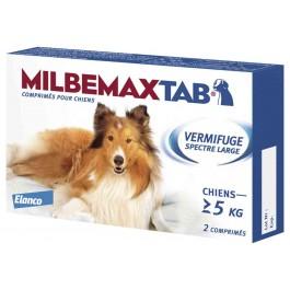 Milbemax Tab  vermifuge chien de plus de 5 kg - La Compagnie Des Animaux