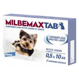 Milbemax Tab vermifuge chiots et petits chiens de 0,5 à 10kg - La Compagnie Des Animaux