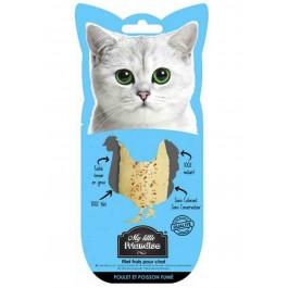 My little Friandise Filet de Poulet et Poisson Fumé pour chat 30 g - La Compagnie Des Animaux