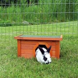 Natura habitat pour petits animaux 40 × 20 × 28 cm bois naturel - La Compagnie Des Animaux