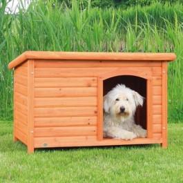 Natura Niche à toit plat brun pour chiens 104 x 72 x 68 cm - La Compagnie Des Animaux