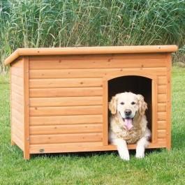 Natura Niche à toit plat brun pour chiens 116 x 82 x 79 cm - La Compagnie Des Animaux