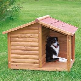Natura Niche avec terrasse pour chiens 100 x 82 x 90 cm - La Compagnie Des Animaux