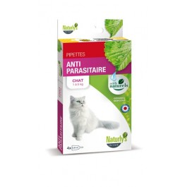 Naturlys Antiparasitaire Chat 4 pipettes - La Compagnie Des Animaux