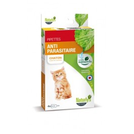 Naturlys Antiparasitaire Chaton 4 pipettes - La Compagnie Des Animaux