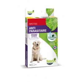 Naturlys Antiparasitaire Grand Chien 25-50 kg 4 pipettes - La Compagnie Des Animaux