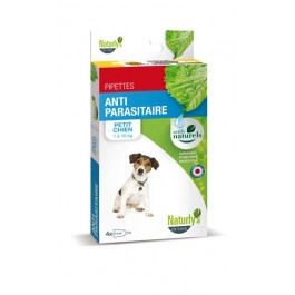 Naturlys Antiparasitaire Petit Chien 1-10 kg 4 pipettes - La Compagnie Des Animaux