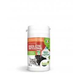 Offre -25 % Naturlys Poudre Hygiène intestinale pour chien et chat 40 g - La Compagnie Des Animaux