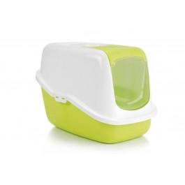 Nestor Maison de toilette avec filtre pour chat vert - La Compagnie Des Animaux