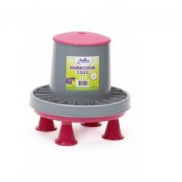 Plume & Compagnie nourrisseur plastique sur pieds 2,5 kg - La Compagnie Des Animaux