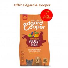 Edgard & Cooper Croquettes au Poulet frais Chien Adulte 12 kg - La Compagnie Des Animaux