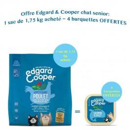 Edgard & Cooper Apetissant Poulet & Poisson Blanc MSC croquettes sans céréales pour chat senior 1,75 kg - La Compagnie Des Animaux