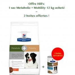 Hill's Prescription Diet Canine Metabolic + Mobility 12 kg - La Compagnie Des Animaux