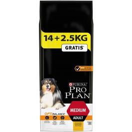 Purina ProPlan Dog Medium Adult OPTIBALANCE 14 kg + 2,5 kg offerts - La Compagnie Des Animaux