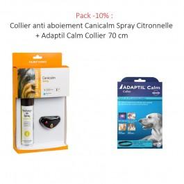 Collier anti aboiement Canicalm Spray Citronnelle noir - La Compagnie Des Animaux