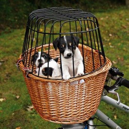 Trixie Panier pour vélo avec grille de protection 44 × 48 × 33 cm - La Compagnie Des Animaux
