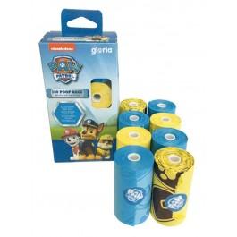 Paw Patrol sacs de propreté 8x20 jaune et bleu - La Compagnie Des Animaux