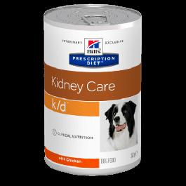 Hill's Prescription Diet Canine K/D au poulet 12 x 370 grs - La Compagnie Des Animaux