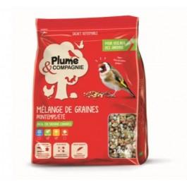 Plume & Compagnie Mélange de graines Printemps Ete 1.5 kg - La Compagnie Des Animaux