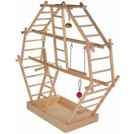 Trixie Plateau de jeu en bois avec échelles pour oiseau - La Compagnie Des Animaux