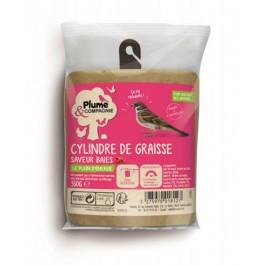 Plume & Compagnie Cylindre de Graisse saveur Baies 350 g - La Compagnie Des Animaux