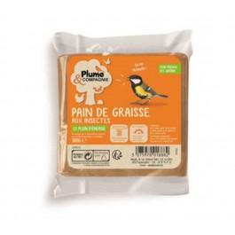 Plume & Compagnie Pain de graisse aux insectes 300 g - La Compagnie Des Animaux