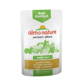 Almo Nature Chat Anti Hairball Poulet 30 x 70 grs - La Compagnie Des Animaux
