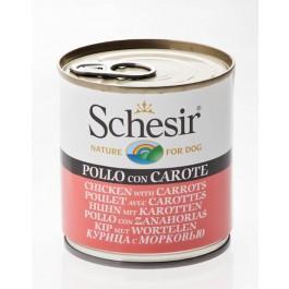Schesir Poulet avec Carottes en gelée pour chien 16 x 285 g - La Compagnie Des Animaux