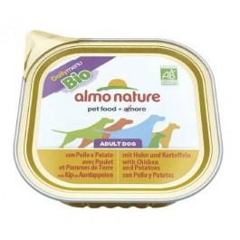 Almo Nature Chien Daily Menu Bio Poulet et Pommes de Terre 9 x 300 grs - La Compagnie Des Animaux