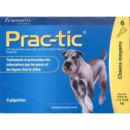 Prac-Tic Chiens Moyens 6 pipettes - La Compagnie Des Animaux