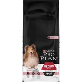 Purina Pro Plan Dog Medium Adult Sensitive Skin Saumon OPTIDERMA 3 kg - La Compagnie Des Animaux