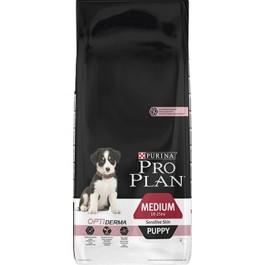 Purina Pro Plan Dog Medium Puppy Sensitive Skin OPTIDERMA 12 kg - La Compagnie Des Animaux