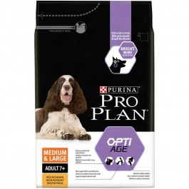 Purina Proplan Dog Medium & Large Adult 7+ OPTIAGE 3 kg - La Compagnie Des Animaux