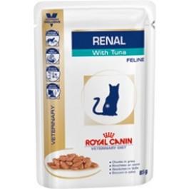 Royal Canin Veterinary Diet Cat Renal Thon Sachet 12 x 85 grs - La Compagnie Des Animaux