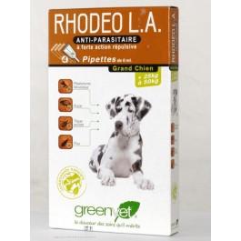 Rhodeo L.A grand chien 25 à 50 kg 4 pipettes - La Compagnie Des Animaux
