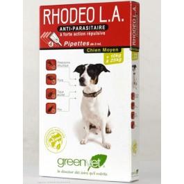 Rhodeo L.A chien moyen de 10 à 25 kg 4 pipettes - La Compagnie Des Animaux
